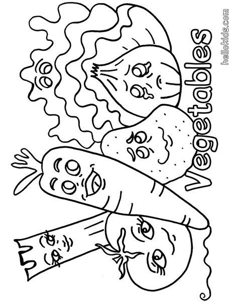 vegetable coloring pages hellokidscom