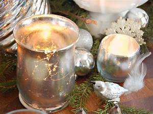 how to make mercury glass votives hgtv With kitchen colors with white cabinets with how to make christmas candle holders