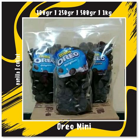 snack kiloan original oreo mini shopee indonesia