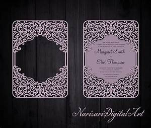 91 best images about laser cut wedding invitations on for Pocket wedding invitations cricut