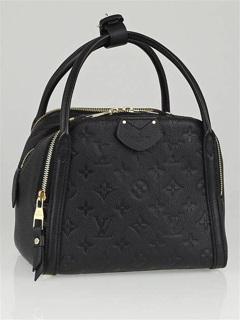 louis vuitton black monogram empreinte leather marais bb
