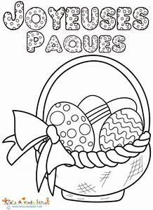 Coloriage De Paque : coloriage de paques lapin oeuf panier ~ Melissatoandfro.com Idées de Décoration