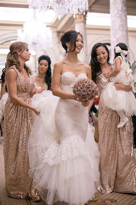 bridesmaid wedding dresses gold sequin bridesmaid dresses dresses trend