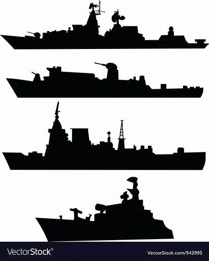Ship Silhouette Navy Clipart Silhouettes Military Four