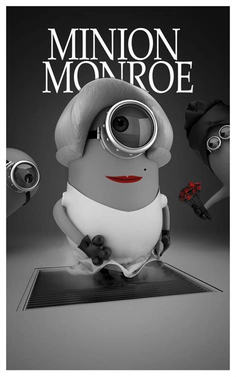 Minion Monroe. I would totally hang this in my room