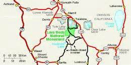 lava beds national monument area map california united