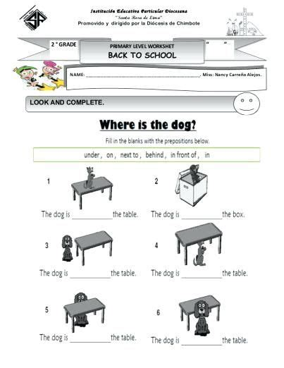 preposition worksheets   deffufa info