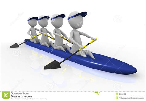 Row Boat Team by Rowing Team Clipart