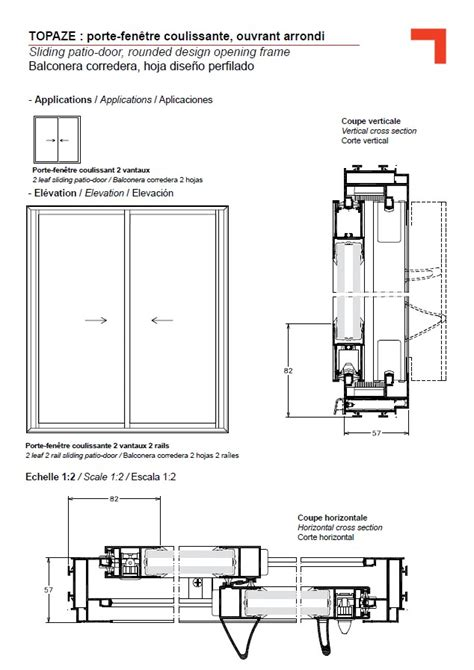 gb sliding patio door rounded design opening frame