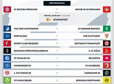 FC Bayern Spielplan 20172018 Alle BundesligaPartien des