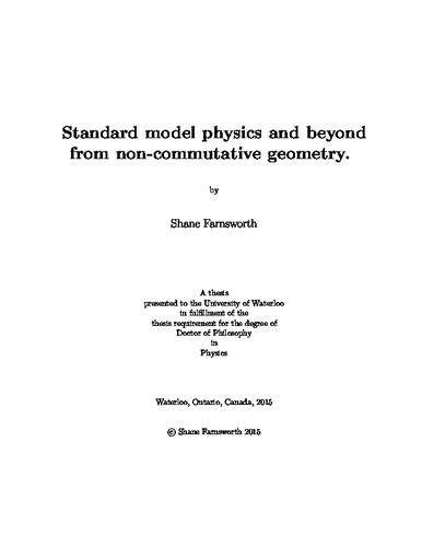 Standard model physics and beyond from non-commutative