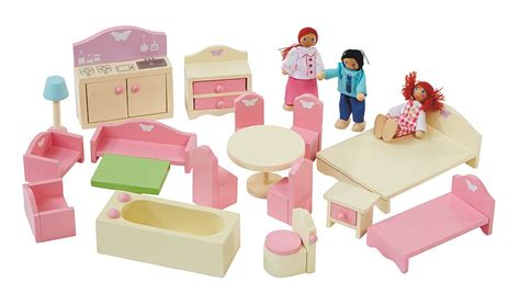 george home wooden dolls house  furniture bundle