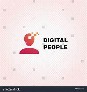 Digital People Logo Design Template Vector Stock Vector ...