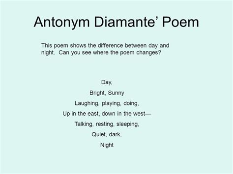 Best Diamante Poem Ideas And Images On Bing Find What You Ll Love
