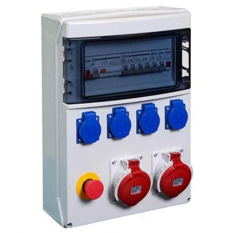 coffret electrique de chantier coffret de chantier 4 prises 2p t 1x3p t 16a 1x3p t n 16a
