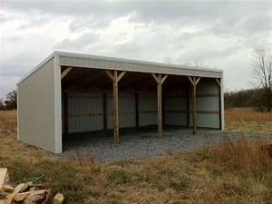 pole barn 12x40 loafing shed material list building plans With best way to build a pole barn