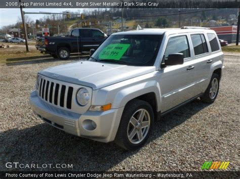 silver jeep patriot interior bright silver metallic 2008 jeep patriot limited 4x4