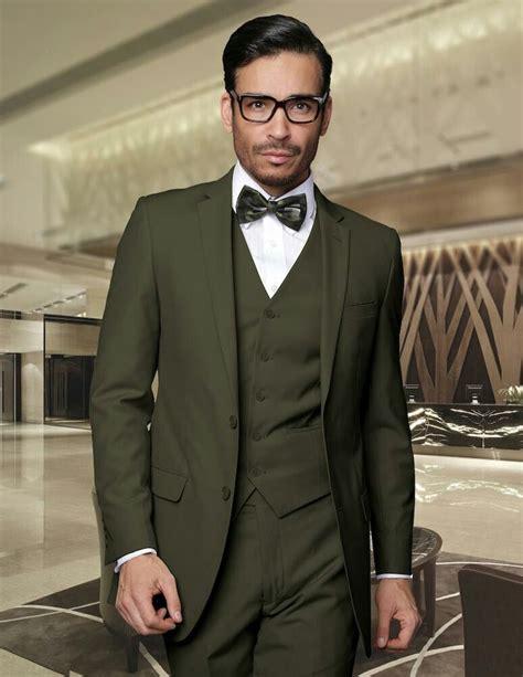 olive green suit  groom atiswmenswear iswmenswearcom