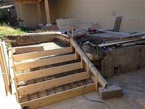 coffrage escalier beton exterieur evtod With comment faire un escalier en beton exterieur