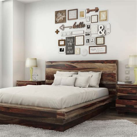 Wooden Bed Platform by Virginia Modern Handcrafted Solid Wood Platform Bed