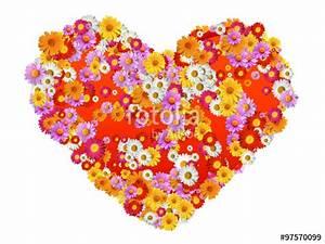 Flower Power Blumen : herz mit margeriten blumen flower power symbolik imagens e fotos de stock royalty free no ~ Yasmunasinghe.com Haus und Dekorationen