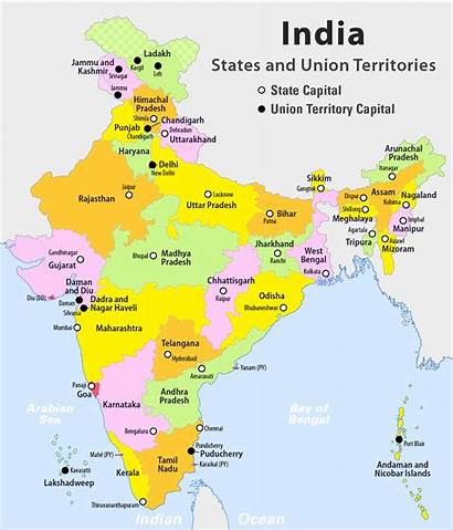 India States Territories Union Map Wikipedia