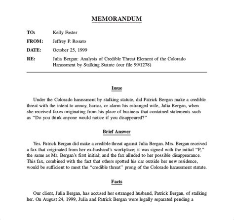 legal memo template  word excel  documents