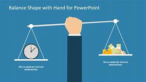 Scale Model Comparison Chart Balance Shape With Hand Powerpoint Template Slidemodel