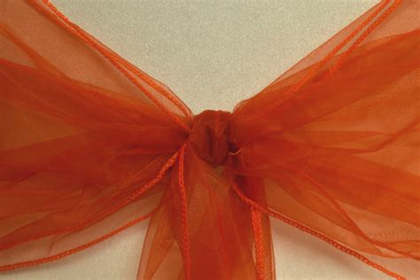 organza chair cover sash 10 pack burnt orange uk