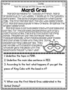 february reading comprehension nonfiction passages by krafty