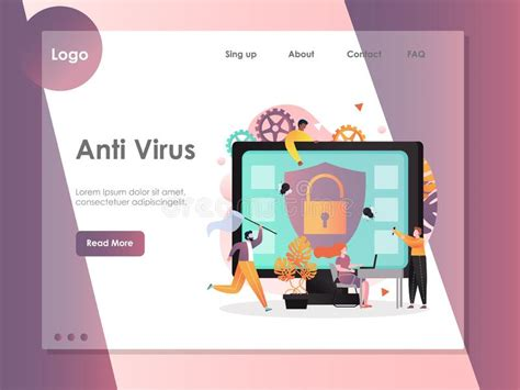 anti virus vector concept  web banner website page