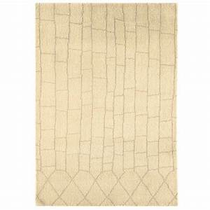tapis moderne style marocain beige en laine With tapis marocain laine