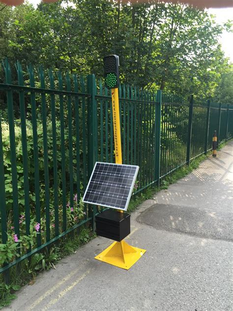 solar powered remote traffic light transport support