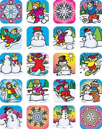 Winter Stickers Teacher Resources Created