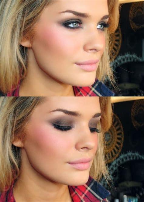 lovely pink blush makeup   girls pretty designs