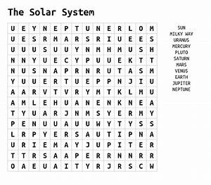 Solar System Word Search | Activity Shelter