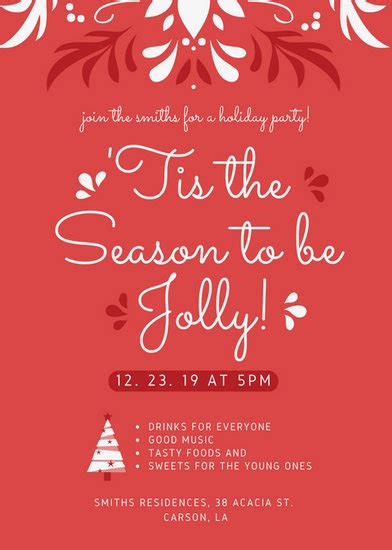 customize  christmas flyer templates  canva