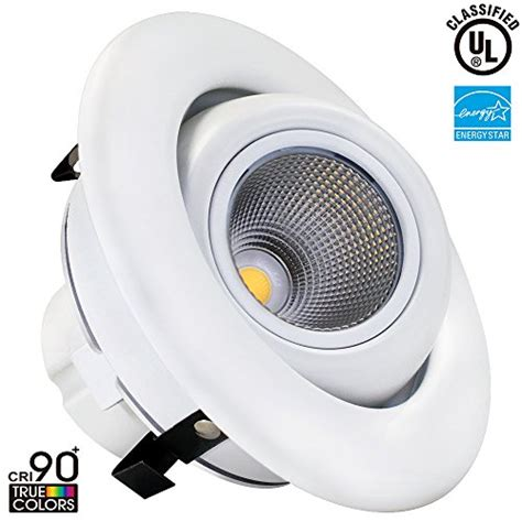 directional can lights 10w 4 inch dimmable gimbal directional retrofit led
