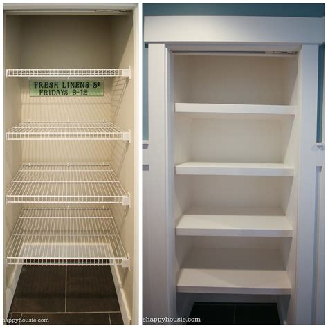 wire closet shelving how to replace wire shelves with diy custom wood shelves
