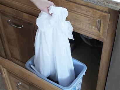 Empty Trash Bins Inside Wipe Child Spaces