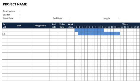 Gantt Chart Word Template by Gantt Chart Template