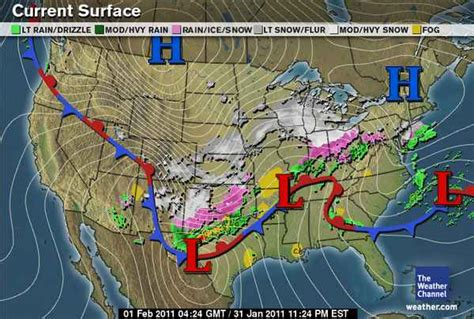 Map of Current Snow Storm Weather