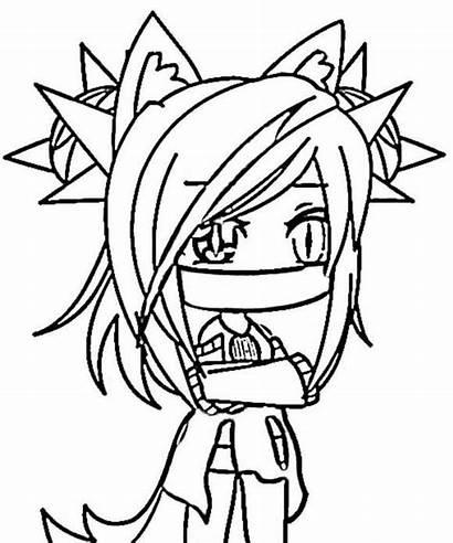 Gacha Dibujos Kawaii Coloring Anime Colorear Colorir