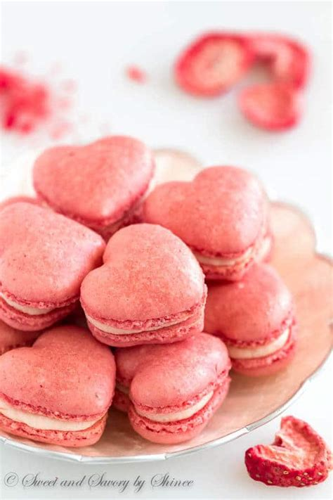 strawberry macarons sweet savory  shinee