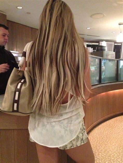Light Blonde Hair With Dark Brown Peekaboo Lowlights ️