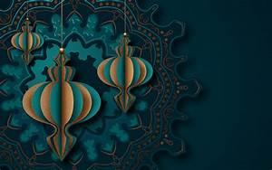 Islamic, Greeting, Card, Mandala, Design, For, Ramadan, 999421