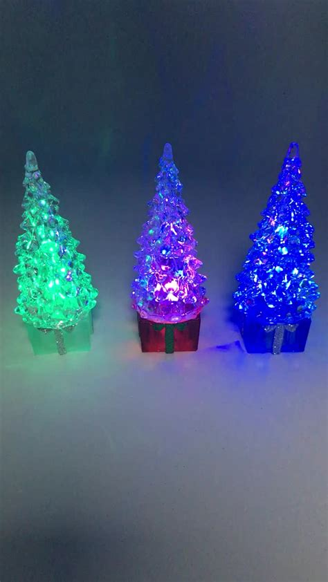7 color changing led lighted acrylic christmas tree