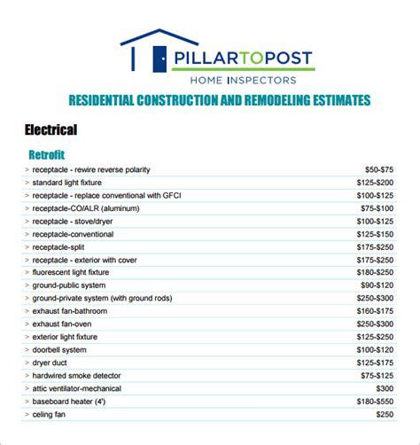 6+ Contractor Estimate Templates  Pdf, Doc Free