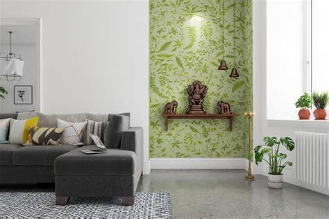 trendy colour ideas  pooja room