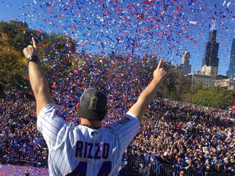daily cco  trophy  parade cubstock anthony rizzo   cubs news chicago cubs